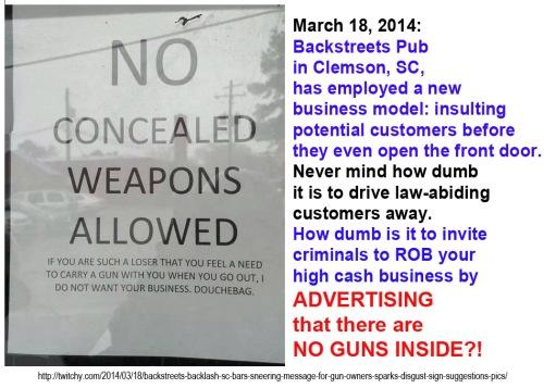 2014_03 No guns in bar sign