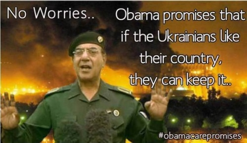 2014_03 Obama promises Ukraine