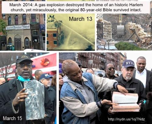 2014_03 Original Bible survives fire