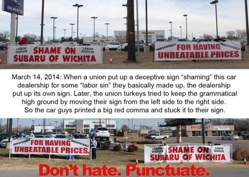 2014_03 Union vs Subaru - Don't hate Punctuate