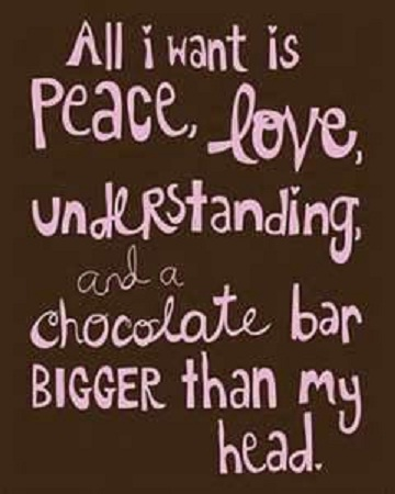 CHOCOLATE All I want