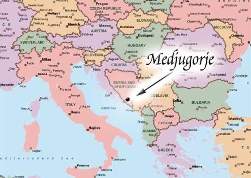 MAP Medjugorje