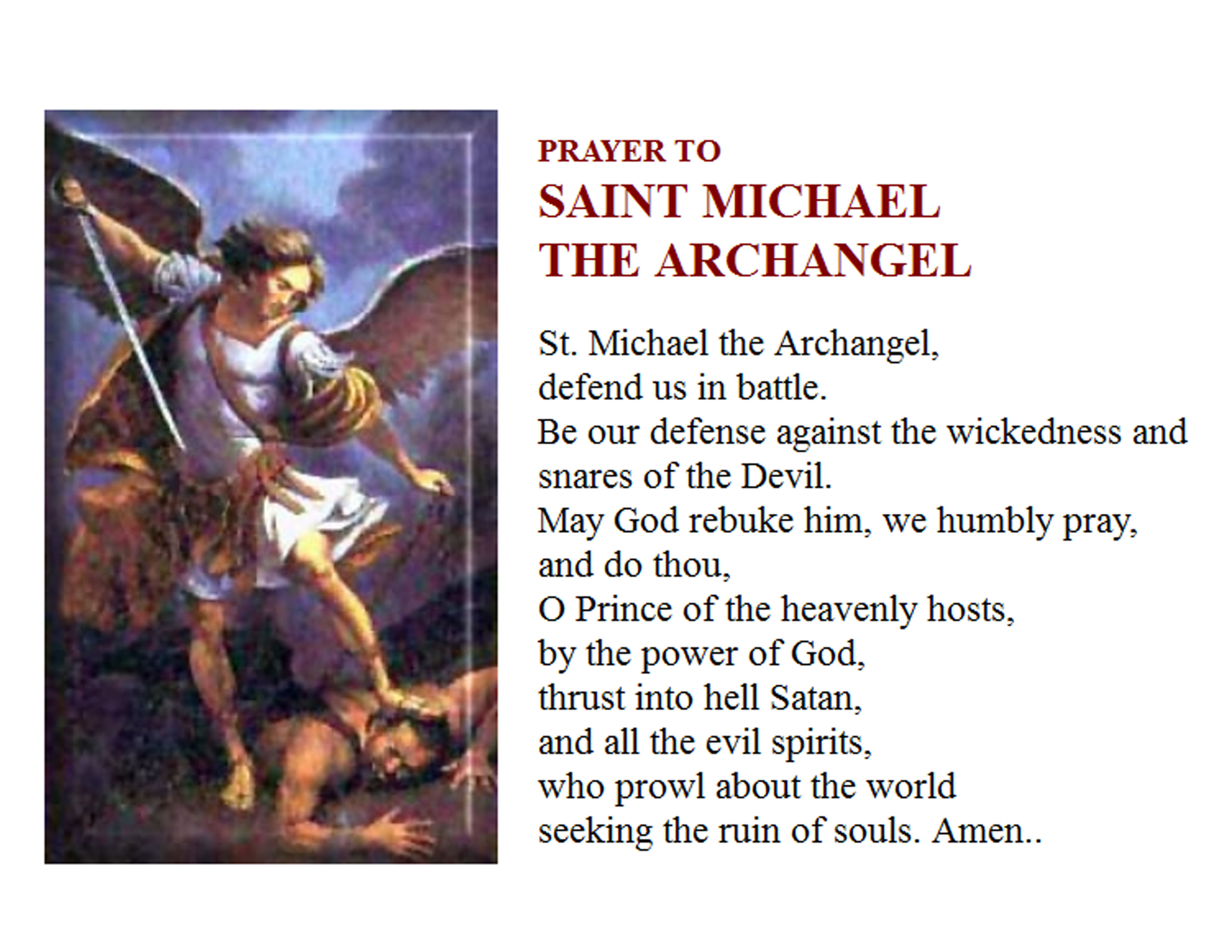 essay on saint michael the archangel St michael the archangel story god had made heaven and the earth and all the angels and all the extra important angels,called archangels.