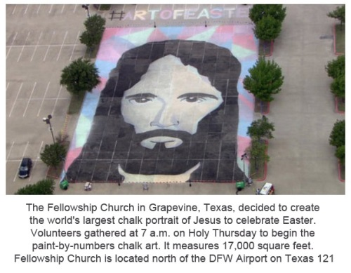 2014_04 17 Largest chalk portrait of Jesus ever