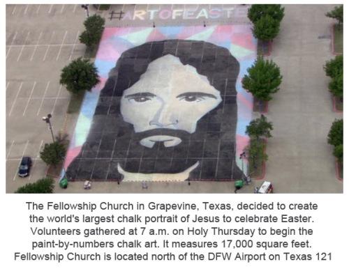 2014_04 17 Largest chalk portrait of Jesus ever