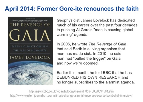 2014_04 Lovelock debunks his own AGW research