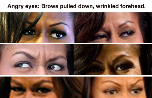 Angry eyes FLOTUS montage