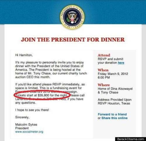 Dinner with Prez