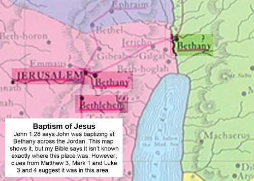 MAP Bethany across the Jordan