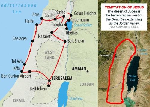MAP Judean desert