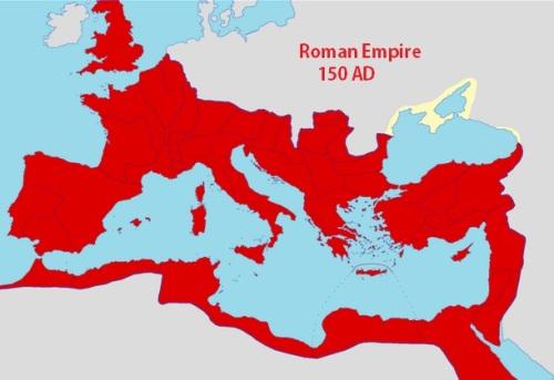 MAP Roman Empire 150 AD