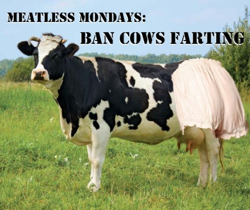 Meatless Mondays ban cow fart