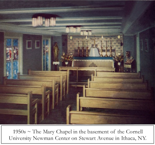 1954 Newman Chapel where C was baptized