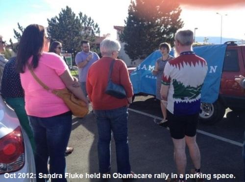 2012_10 Sandra Fluke has Ocare rally in parking space