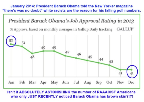 2013 GALLUP BHO approval drop