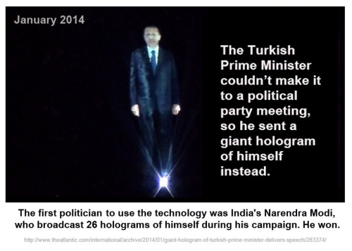 2014_01 Turkish PM uses 3D hologram of self