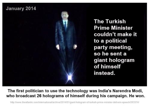 2014_01 Turkish PM uses 3D hologram of self