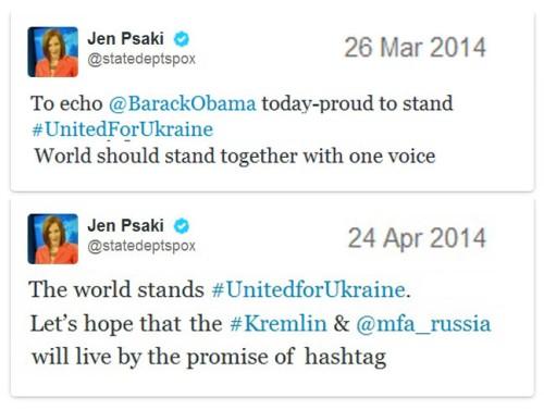 2014_04 24 Jen Psaki StateDeptSPOX hashtags diplomacy