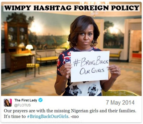 2014_05 07 Michelle hashtagBringBackOurGirls