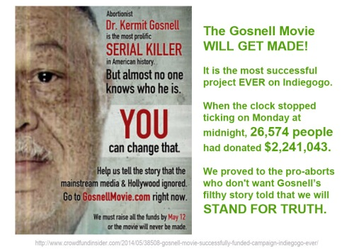 2014_05 15 Gosnell movie is a GO