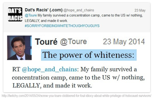 2014_05 23 Touré's vile anti-Holocaust tweet