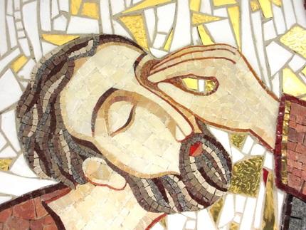 John 9 Healing blind man mosaic