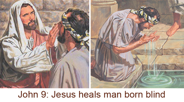 Why did Jesus put spit on the blind man? |