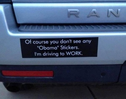 No Obama sticker