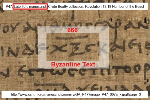 P47 late 3d c ms 666 Byz txt
