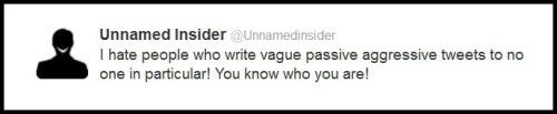 Vague PA tweets