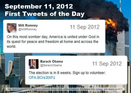 2012_09 11 Romney v Obama first tweets