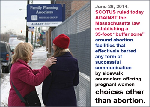 2014_06 26 SCOTUS strikes down MA buffer zone