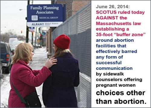 2014_06 26 SCOTUS strikes down MA buffer zone