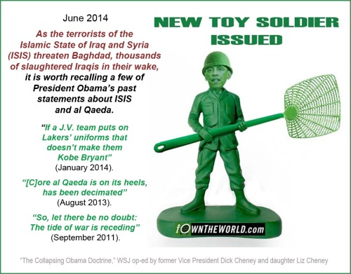 2014_06 Cheney OBAMA Toy Soldier