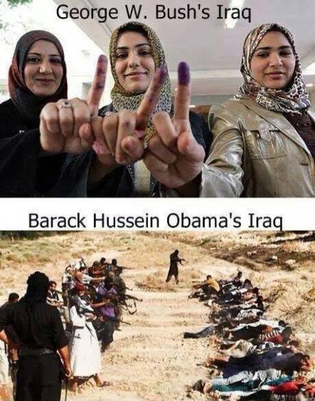 IRAQ Bush v Obama