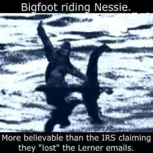 IRS Bigfoot riding Nessie