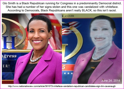 2014_06 24 Glo Smith whiteface not really racist