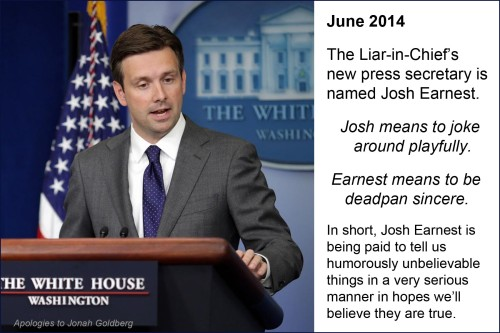 2014_06 Josh Earnest BHO's new Press Sec