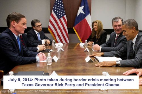 2014_07 09 Perry and Obama meet about border crisis