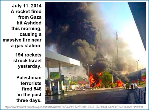2014_07 11 Hamas shoots 548 rockets at Israel