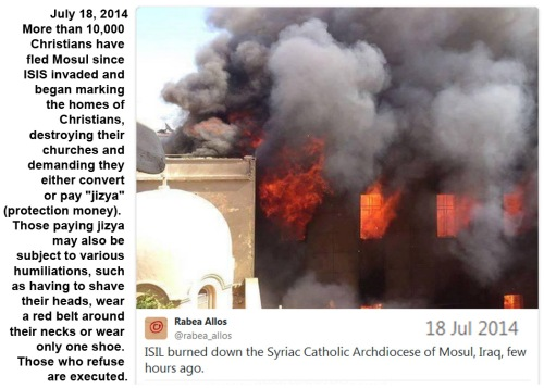 2014_07 18 Mosul Christians flee ISIS