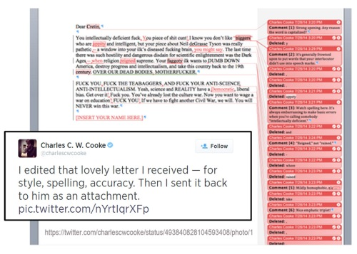 2014_07 28 Charles Cooke edits hate mail