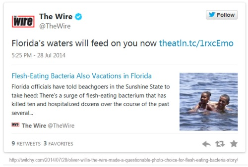 2014_07 28 Wire Obama Flesh-eating bacteria