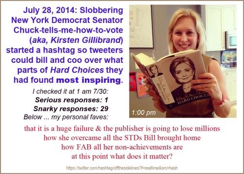 2014_07 29 Gillibrand Hard Choices hashtag