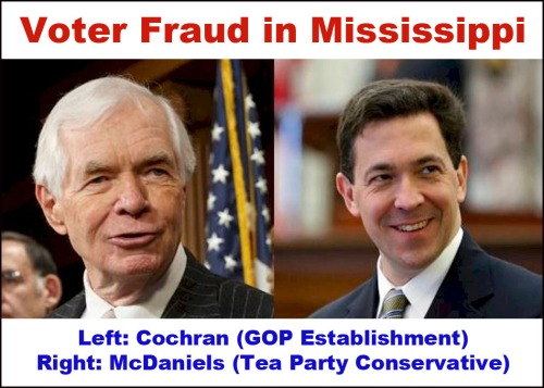 2014_07 Cochran McDaniels Voter fraud in MS