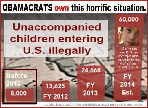 2014_07 Obamacrats own alien children crisis