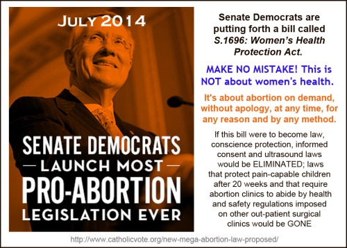 2014_07 Senate Democrats propose abortion on demand law