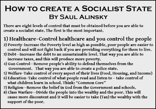 Alinsky How to create a socialist state