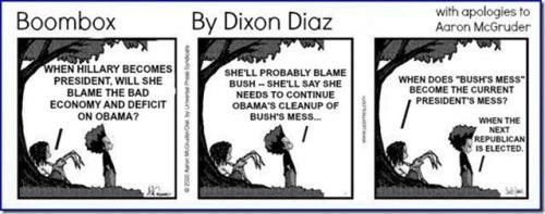 Boombox Bush's mess