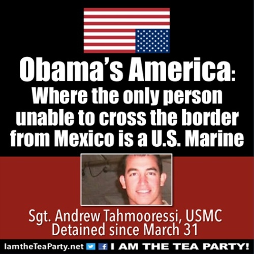 BORDER Marine can't get into US